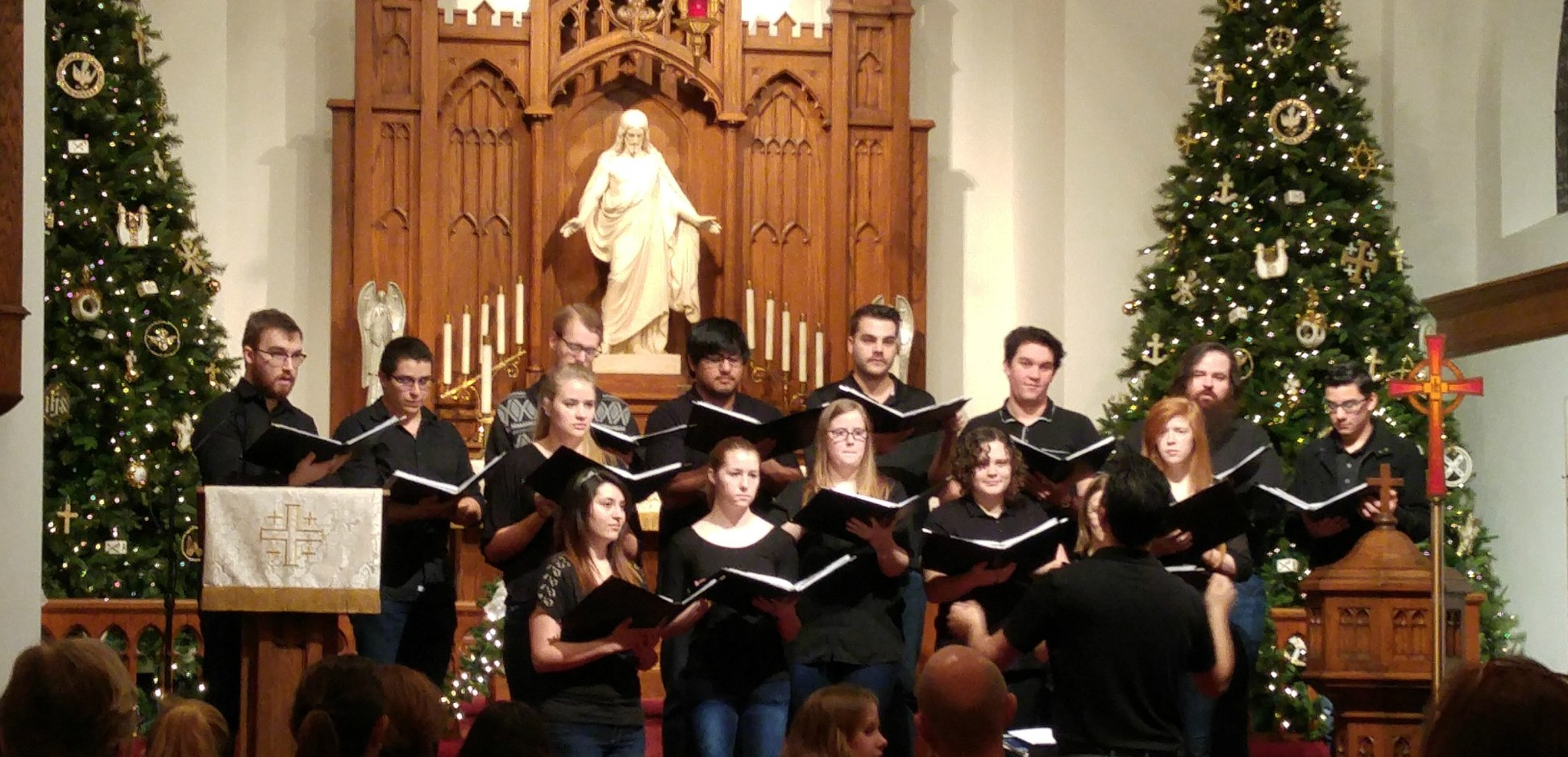concordia choir, austin tx at Trinity Jan 7,2016