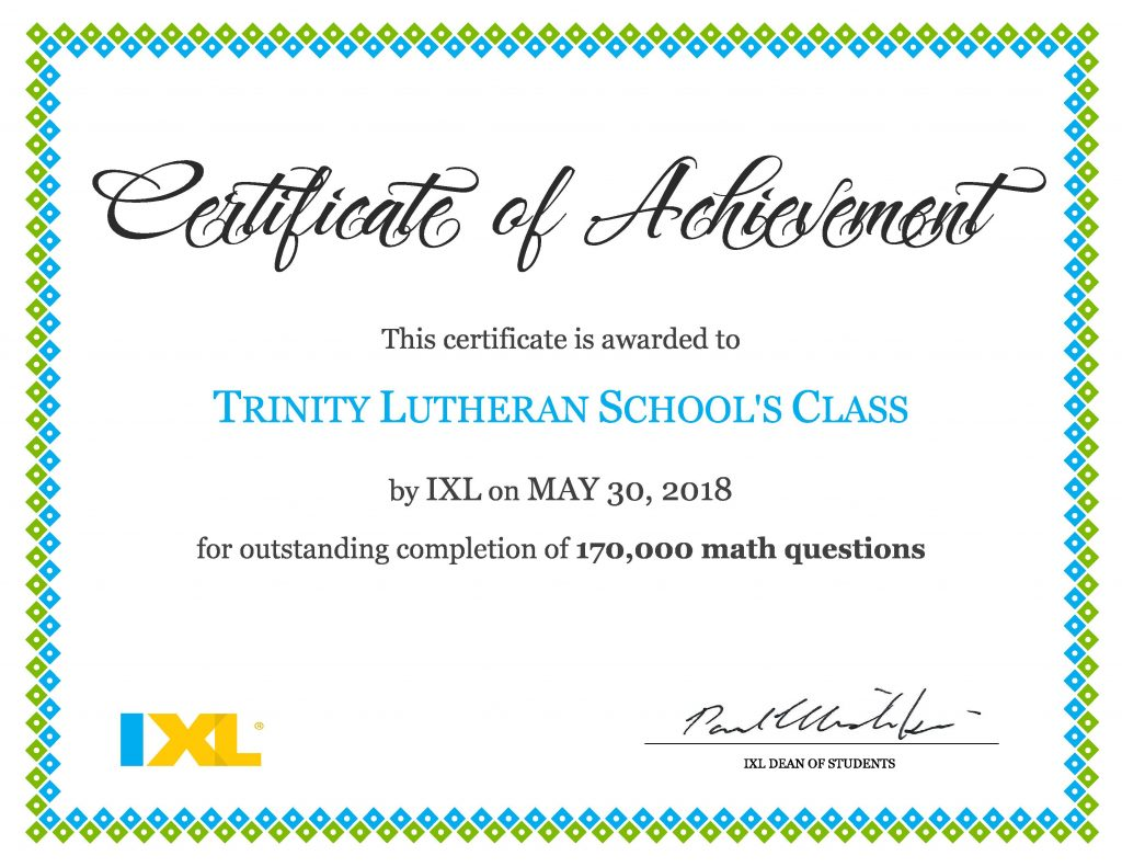 Trinity Students Completed 170,000 Math Problems This Year | Trinity ...