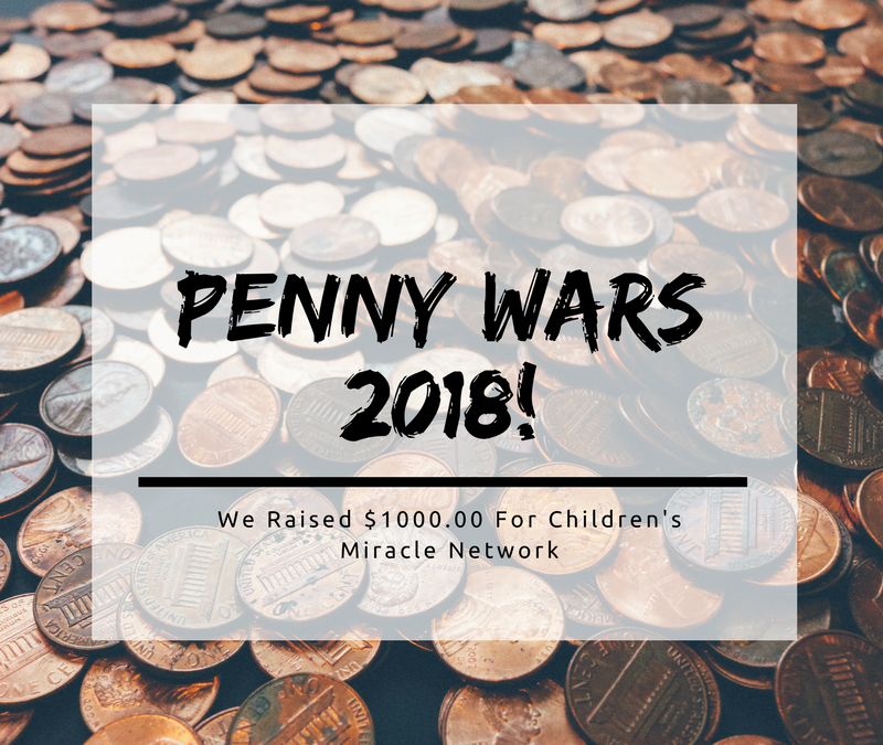 Penny Wars 2018: We raised $1000!