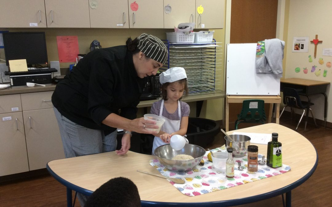 Interactive Cooking Demo in the Garden of Discovery Classroom
